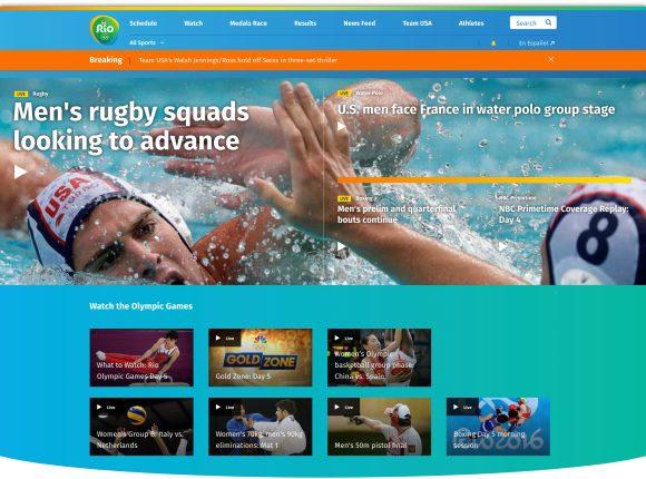 NBC Olympics homepage